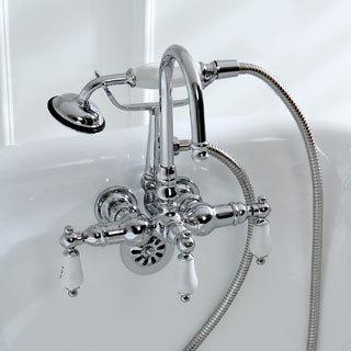 clawfoot tub fixtures. Americana Wall-mount Chrome Clawfoot Tub Faucet Fixtures