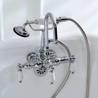 Americana Wall-mount Chrome Clawfoot Tub Faucet