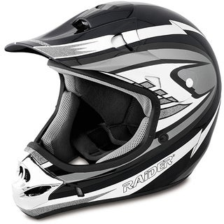 Raider Adult Silver MX 3 Helmet (2 options available)