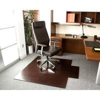 Eco Bamboo Deluxe Cherry Chair Mat with lip (55 x 57)