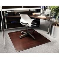 shop eco bamboo standard rectangular cherry chair mat 42 x 48 on
