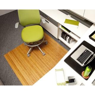 Eco Bamboo Standard Rectangular Natural Chair Mat (52 x 48)