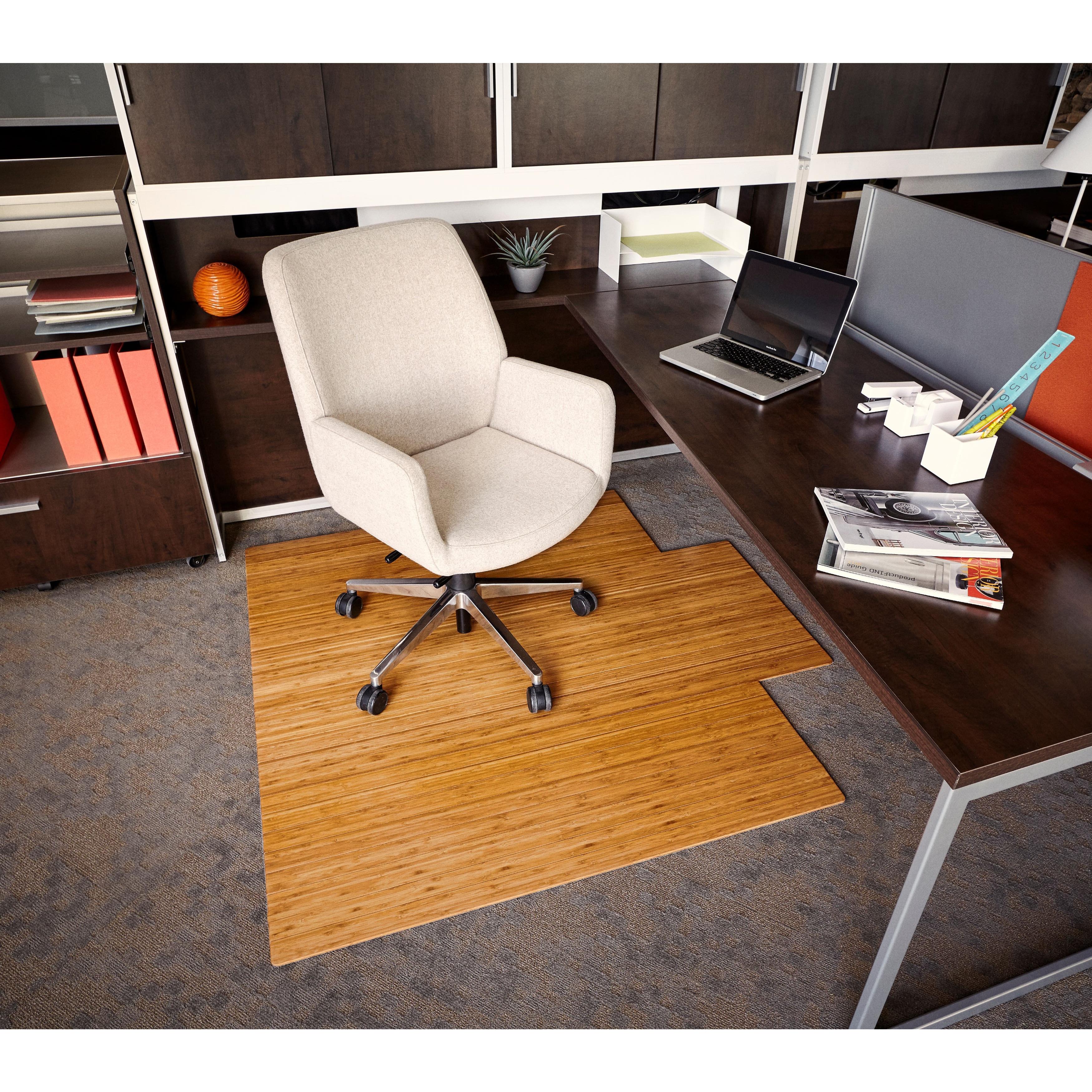 Eco Bamboo Standard Natural Chair Mat