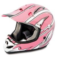 Youth Pink Raider MX 3 Helmet