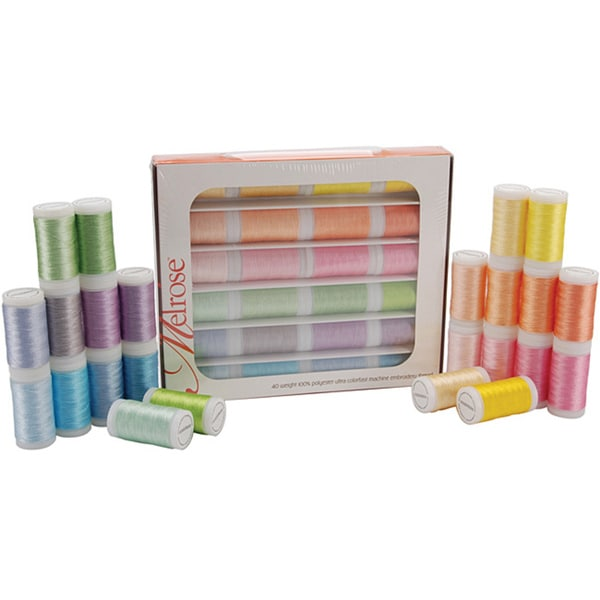 Melrose 'Pastels' Trilobal Polyester Thread (Case of 24)