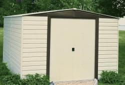 Arrow Dallas Vinyl-Coated Almond Steel Shed - Thumbnail 1