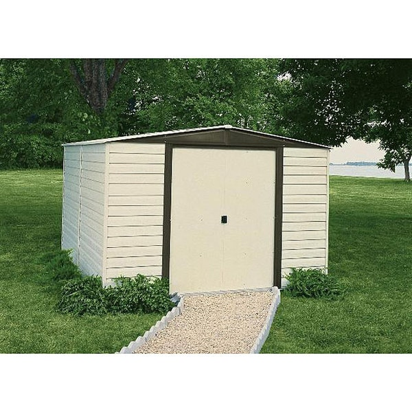 Arrow Dallas Vinyl-Coated Almond Steel Shed