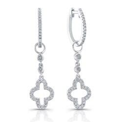 Victoria Kay 14k White Gold 1/4ct TDW Diamond Cross Charm Earrings (H-I, I1-I2)