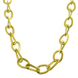 Fremada 14k Yellow Gold Etruscan Mixed Link Necklace