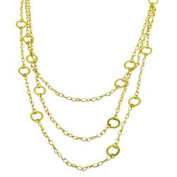 Fremada 14k Yellow Gold 3-strand Adjustable Contempo Necklace