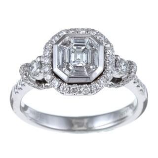 Victoria Kay 14k White Gold 1ct TDW Mosaic Diamond Ring
