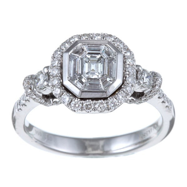 Victoria Kay 14k White Gold 1ct TDW Mosaic Diamond Ring