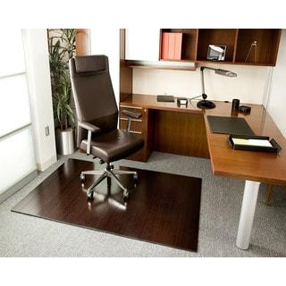 Eco Bamboo Deluxe Rectangular Cherry Chair Mat (72 x 48)