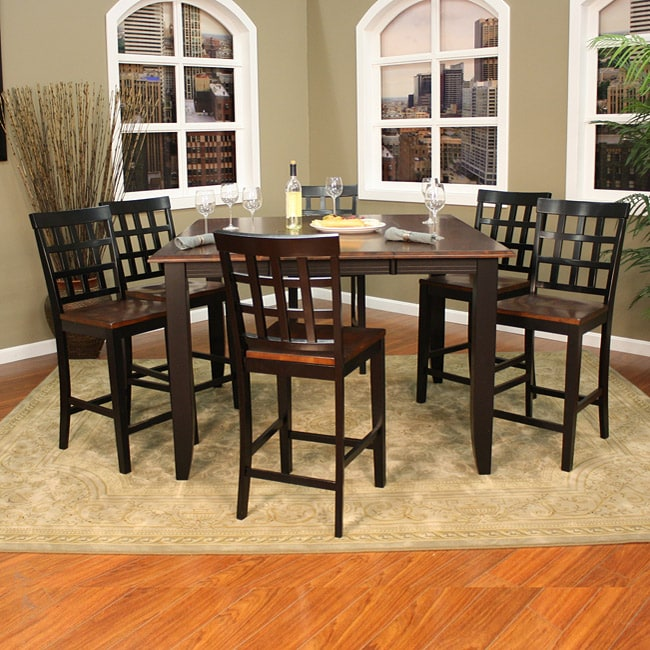 7 Piece Counter Height Dining Room Sets: Pennie 7-piece Butterfly Leaf Counter-height Dining Set