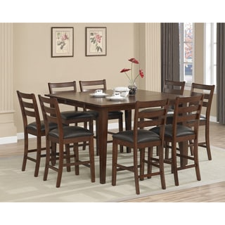 dalton 9 piece butterfly leaf counter height dining set with butterfly