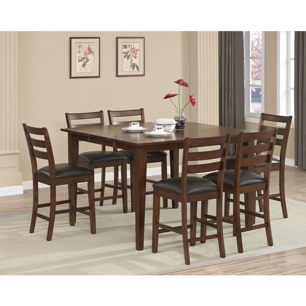 dalton 7 piece butterfly leaf counter height dining set free