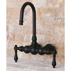 Wall-mount Dark Oil Rubbed Bronze Clawfoot Tub Faucet