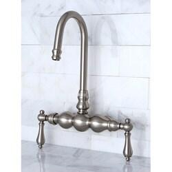 Wall-mount Satin Nickel Clawfoot Tub Faucet