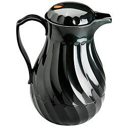 Vollrath Hot and Cold Black Swirl Black Beverage Server