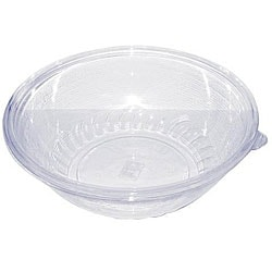 Clear Plastic Pack 'N' Serve Disposable Bowls (Case of 18)