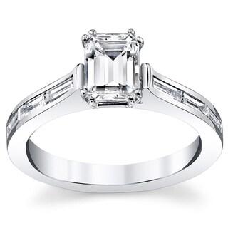14k White Gold 1 2/5ct TDW Diamond Engagement Ring