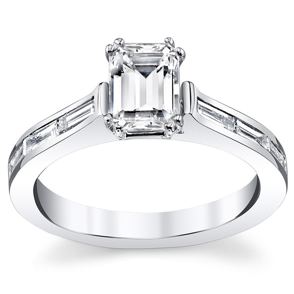 14k White Gold 1 2/5ct TDW Diamond Engagement Ring. Opens flyout.