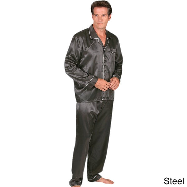 Classic Men's 2-piece Satin Pajamas Set - Free Shipping On Orders ...