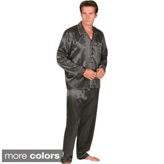 Classic Men's 2-piece Satin Pajamas Set - Free Shipping On Orders ...