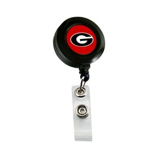Georgia Bulldogs Retractable Badge Reel Id Ticket Clip