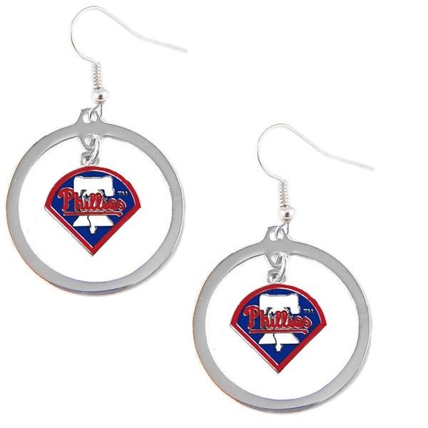 Philadelphia Phillies Logo Charm Hoop Earring Set