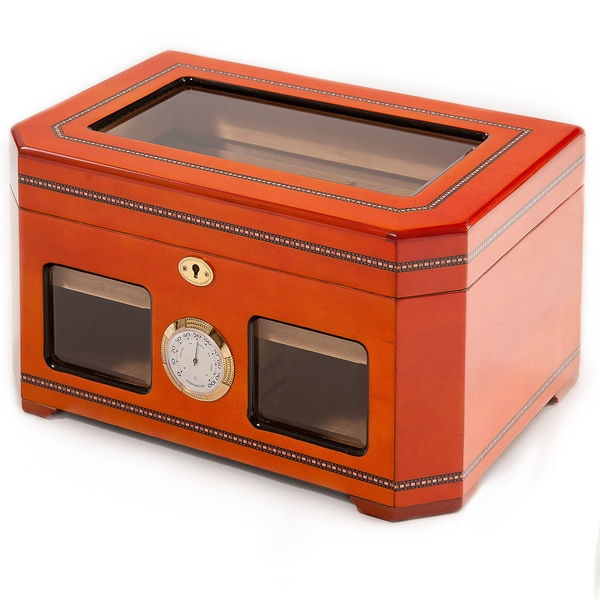 Two-tone Wood Glass Top Humidor by Christopher Knight Home