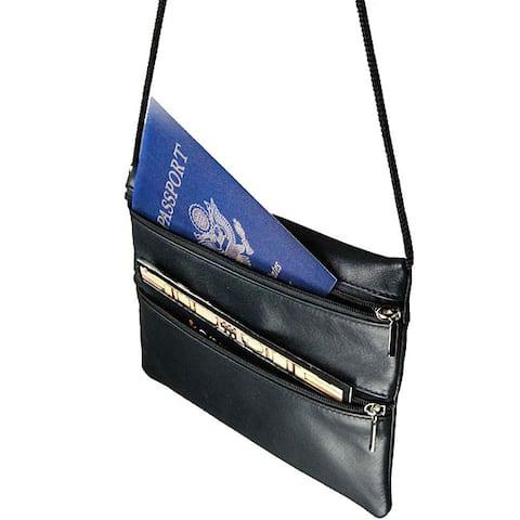 Castello Romano Slim Leather Traveling Pouch