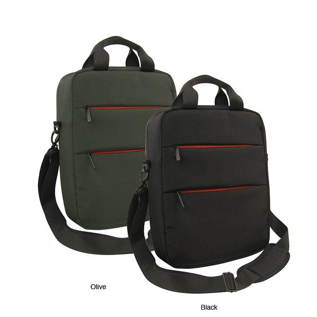 Olympia 14 Inch Vertical Laptop Messenger Bag