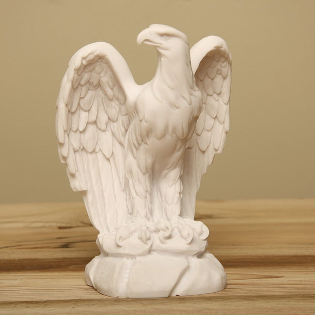 White Marble Statue : White bonded marble classic american eagle statue free