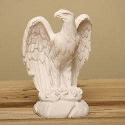 Shop White Bonded Marble Classic American Eagle Statue