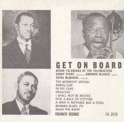 Sonny Terry - Get on Board: Negro Folksongs by the Folkmasters