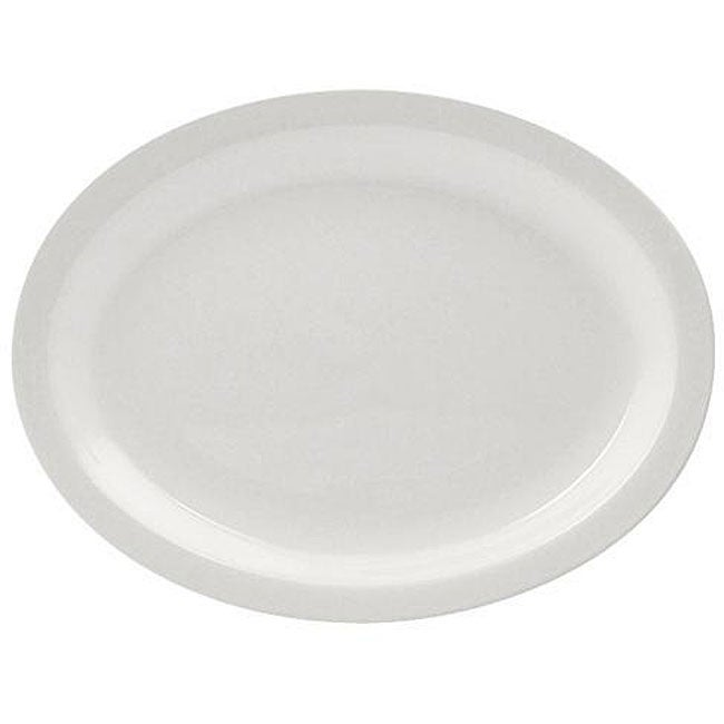 World Tableware Porcelana Oval 10-in Platters (Case of 24)