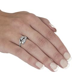 Journee Collection  Sterling Silver Two Dolphin Ring - Thumbnail 2