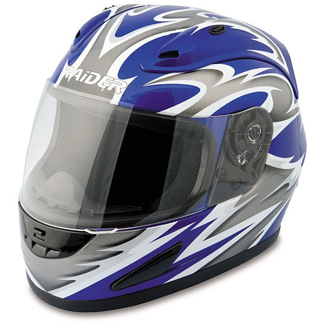 Raider Blue Full Face Street Helmet