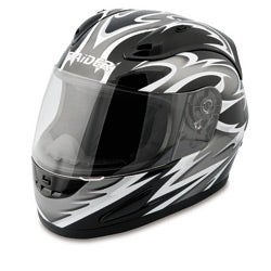 Raider Silver Full Face Street Helmet