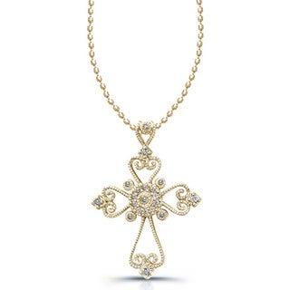 Victoria Kay 1/10ct TDW Diamond Cross Necklace