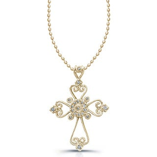 Victoria Kay 1/10ct TDW Diamond Cross Necklace|https://ak1.ostkcdn.com/images/products/5457616/P13247477.jpg?_ostk_perf_=percv&impolicy=medium