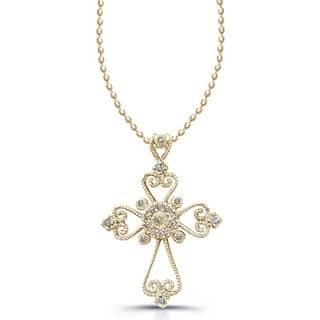 Victoria Kay 1/10ct TDW Diamond Cross Necklace https://ak1.ostkcdn.com/images/products/5457616/P13247477.jpg?impolicy=medium