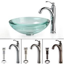KRAUS 34 mm Thick Glass Vessel Sink in Clear with Riviera Faucet|https://ak1.ostkcdn.com/images/products/5457702/72/925/Kraus-Bathroom-Combo-Set-Clear-34-mm-Glass-Vessel-Sink-Rivera-Faucet-P72925247.jpg?impolicy=medium
