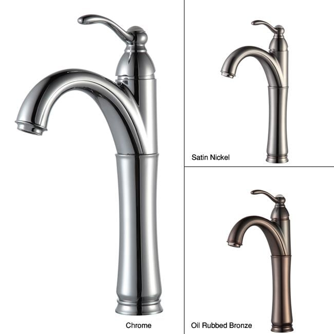 KRAUS Riviera Single Hole Single-Handle Vessel Bathroom Faucet in ...