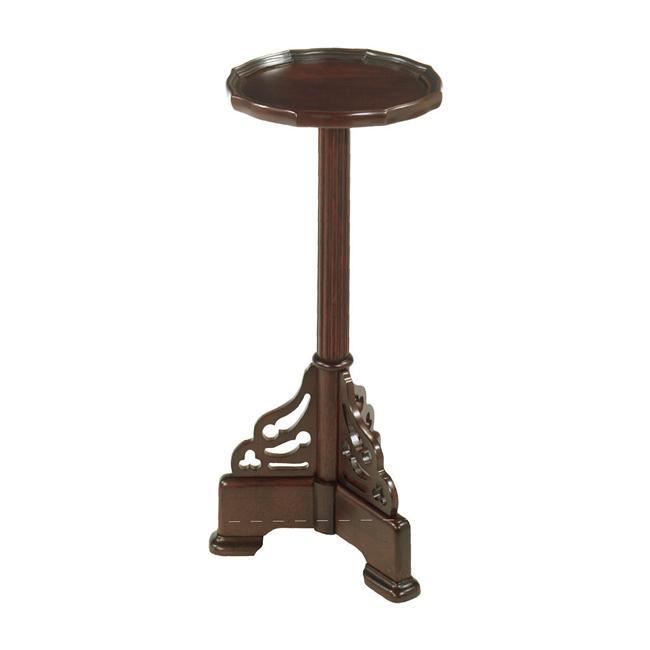 Mahogany Finish Round Accent Pedestal Table Free