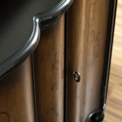 Hand Painted Two Tone Brown Scroll Finish Accent Chest - Thumbnail 1