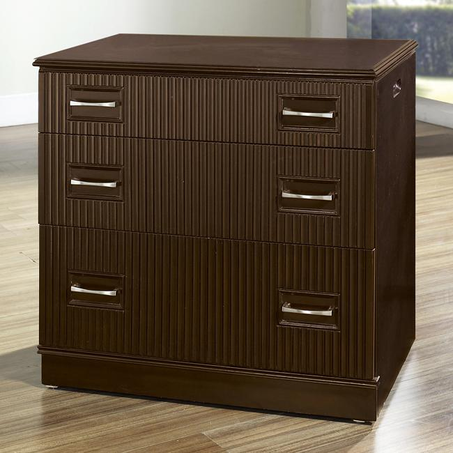 Painted Walnut Finish Accent Chest with Slide Out Desk