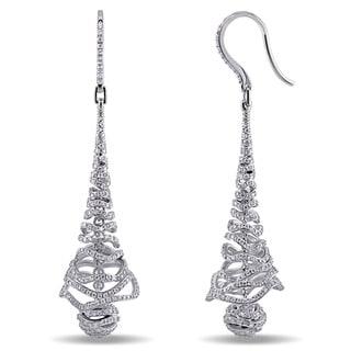 Miadora Signature Collection 18k White Gold 2 1/5ct TDW Diamond Dangle Earrings