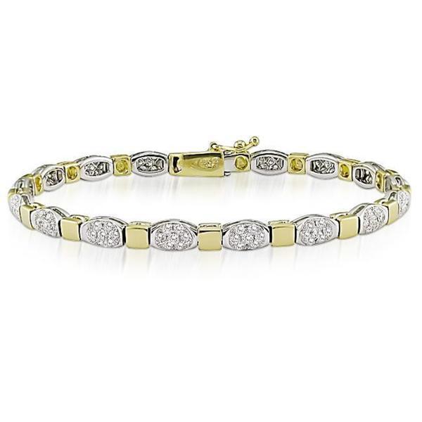 Miadora Signature Collection 18k Two-tone Gold 2 1/2ct TDW Diamond Bracelet